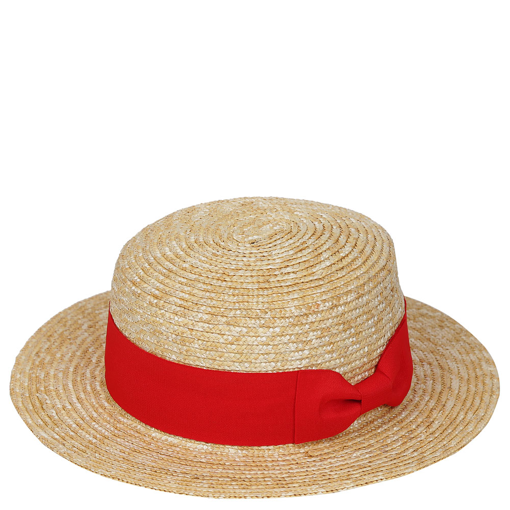 Шляпа жен. соломка натуральная бежевый Fabretti