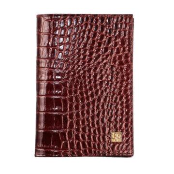 Обложка для паспорта бронзовый крокодил Dimanche