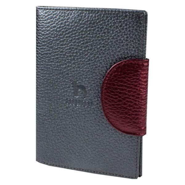 Обложка для паспорта серый перламутр MUMI MUMI